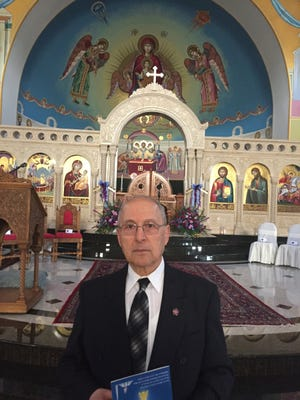 Manouk Derovakimian, 78, of Livonia lost 33 family members in the Armenian massacre. He attended a memorial Friday at St Mary's Antiochian Orthodox Church in Livonia to mark the 100th anniversary.