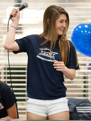 Fort Myers High School's Bailey Pombrio signed a National Letter of Intent on Wednesday at Fort Myers High School. Pombrio signed to play soccer at Florida Atlantic University.