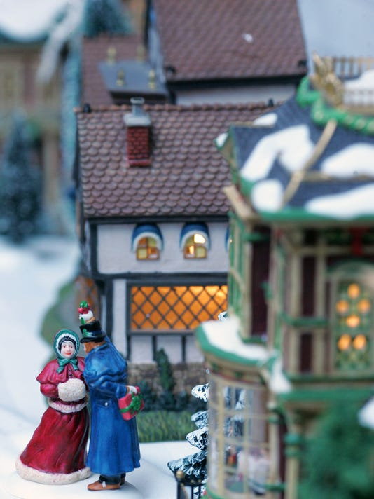 A Dickens' Village will be on display during the Davis-Shai House's annual Victorian Christmas open house.