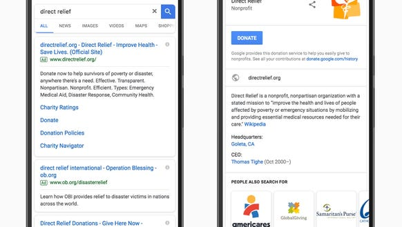 Google search is introducing a donate button for nonprofits