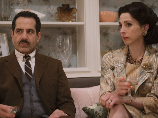 Tony Shalhoub as Abe Weissman and Marin Hinkle as Rose