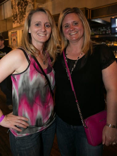 Sheila Tedrow, 35, left, and Selita Jansen, 40, during