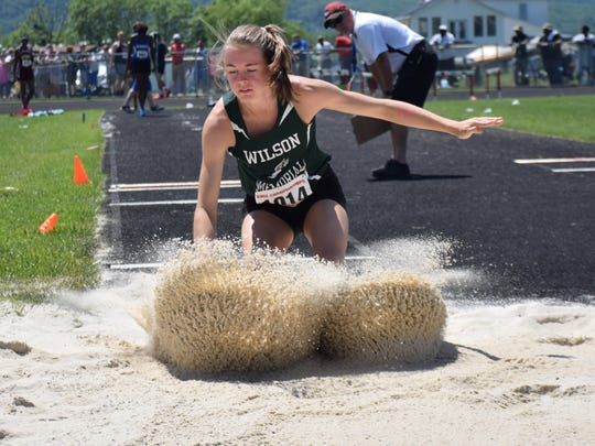 Wilson Memorial's Emilie Miller competes in the Group