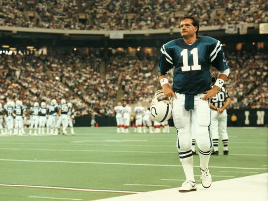 Indy native Jeff George lasted just four seasons with the Colts, never leading the team to the playoffs.