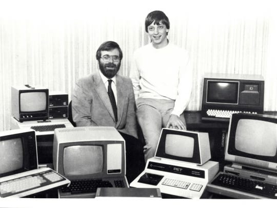 Paul Allen, left, and Bill Gates in a photo from a