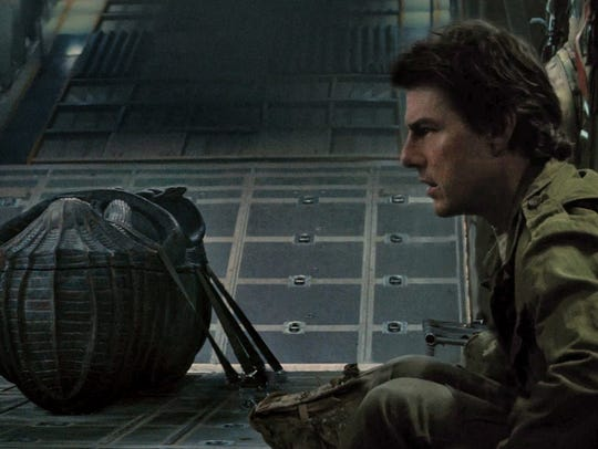 "Tom Cruise appears in a scene from ""The Mummy."""