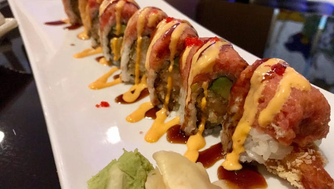 The Soho roll ($6.20) from Kyoto Sushi & HIbachi in Fort Myers features tempura shrimp, avocado and spicy tuna.