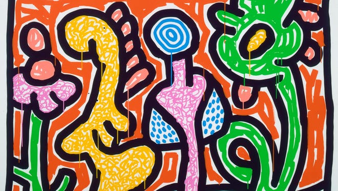 Keith Haring (American, 1958–1990), Untitled, 1990, screen print on paper. Montgomery Museum of Fine Arts Association Purchase, 1994.9