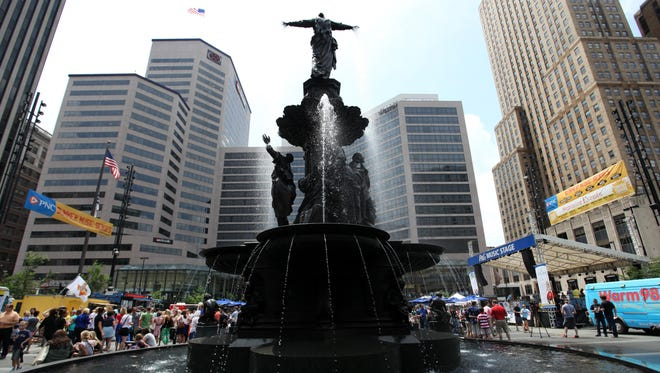 File: An event on Fountain Square.