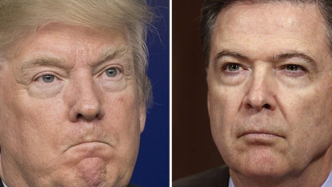 President Trump and former FBI director James Comey are seen in this composite photo.