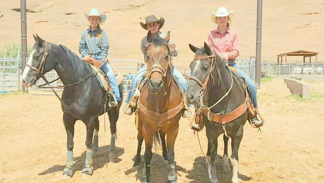 Three athletes compete in Jr. Rodeo competition in Gallup.