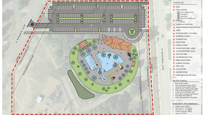 The concept plan for renovations to Hefko Pool, at 1805 S. Roddis Ave. in Marshfield.