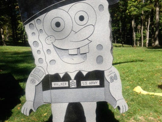 spongebob squarepants grave headstone