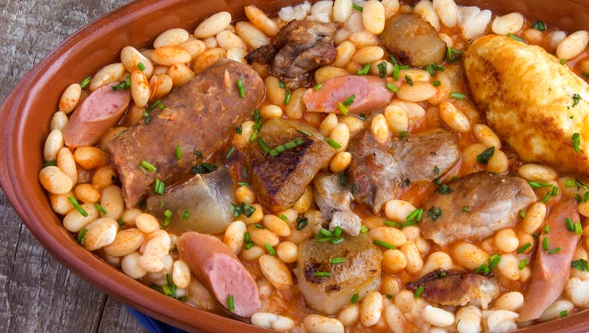 A cassoulet stew typical of southern France.
