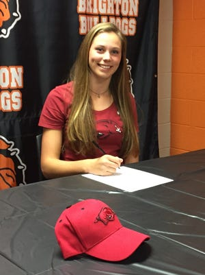 Julia Dean of Brighton signed a national letter of intent with Arkansas on Monday.