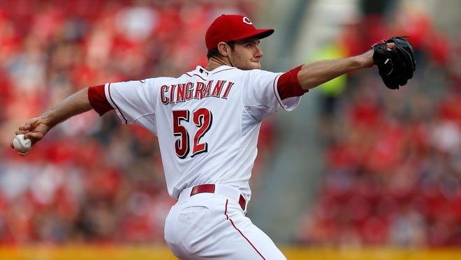 Reds starting pitcher Tony Cingrani on June 4.