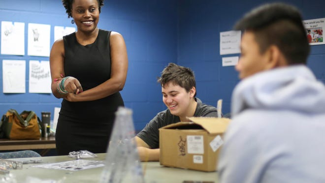 Nancy Mwirotsi is the founder of Pi 515, a program which teaches coding and other tech skills to refugee and low-income kids in the Des Moines metro area. She holds her classes at Zion Lutheran Church in Des Moines.