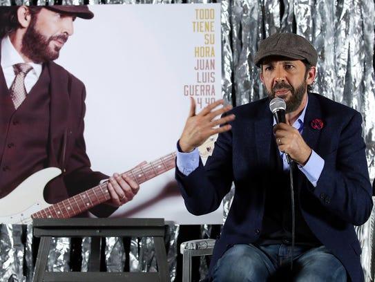 Juan Luis Guerra presentó su nuevo disco.