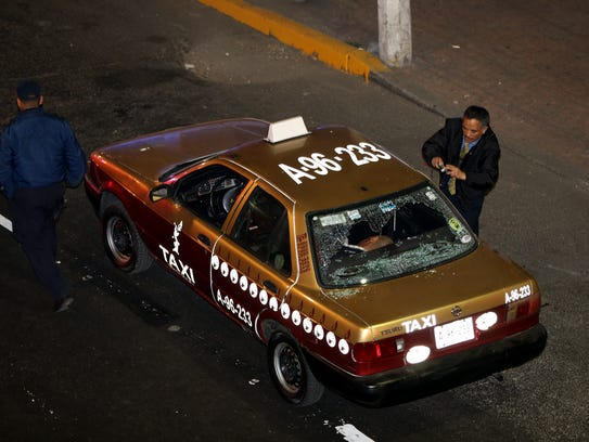 Este es el taxi en el que el músico se trasladaba.