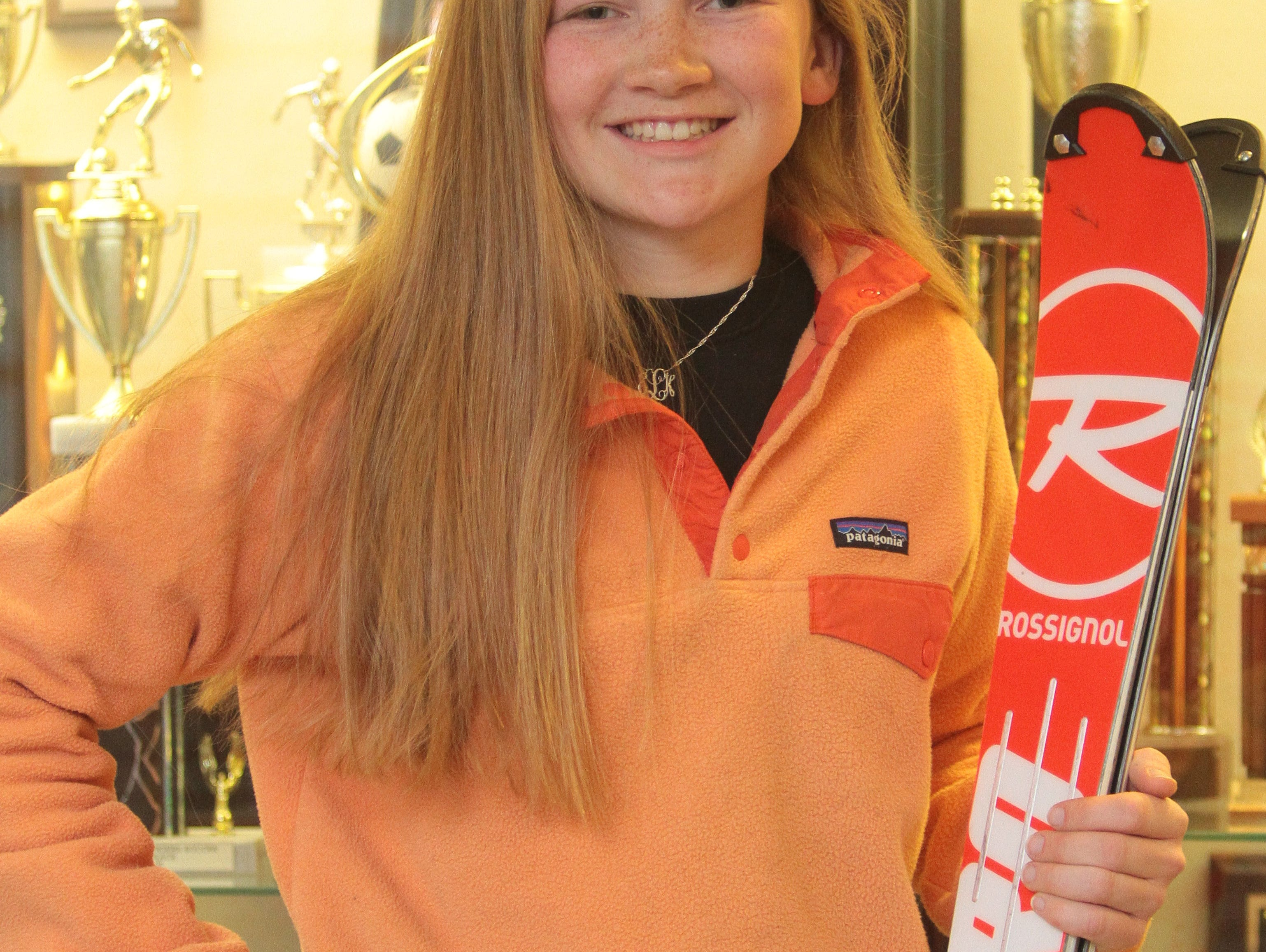 Eleanor (Ellie) Lundberg placed at the New York State Skiing Championship. March 17, 2016.