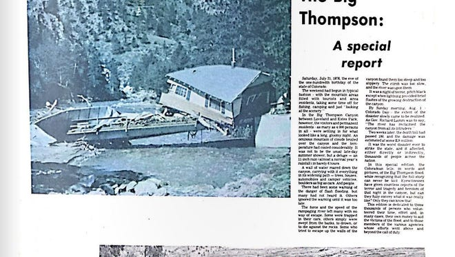 The cover of a special report on the Big Thompson flood of 1976.