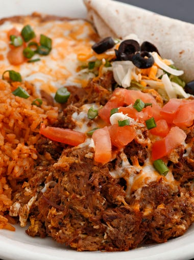The machaca and eggs from Popo's Fiesta del Sol in Glendale.