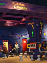 The game room at The Children's Museum of Indianapolis.