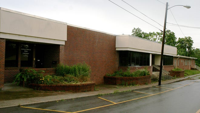 The site of the proposed House of Hope facility at the former Jackson Academy, 222 Church St. in Dickson.
