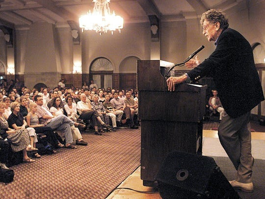 In this 2001 file photo, novelist and former Iowa Writers'