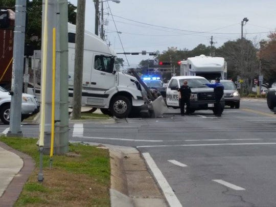 Ninth Avenue and Chase Street semi-trailer wreck.