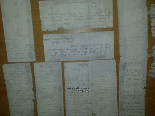 Samuel Fernandez Dominguez  found these letters written by Trinity Catholic School students, who sent the letters in an Arizona Ice Tea bottle and released them into the sea.