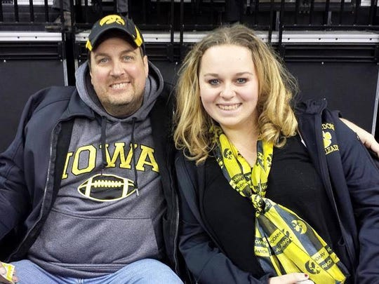 Summer Miller with her father, Danny Eversmeyer.