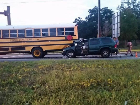 Bus crash on Airport Boulevard