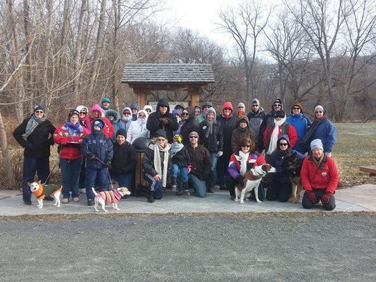 Around 30 attended the 2015 First Day Hike Jan. 1 at the Catherine Valley Trail. Another hike/walk is planned for Jan. 1, 2016