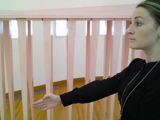 Des Moines Art Center assistant registrar Megan Cohen posted an #ArtCenterSelfie with a sculpture by Louise Bourgeois.