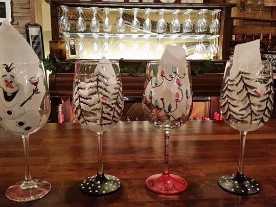 Wine Glass Painting is Sunday at Rob's Redwood.