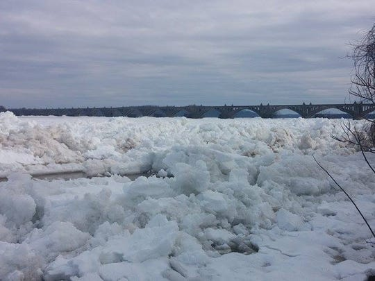 The Susquehanna River on Feb. 4, 2016, with the Wrightsville