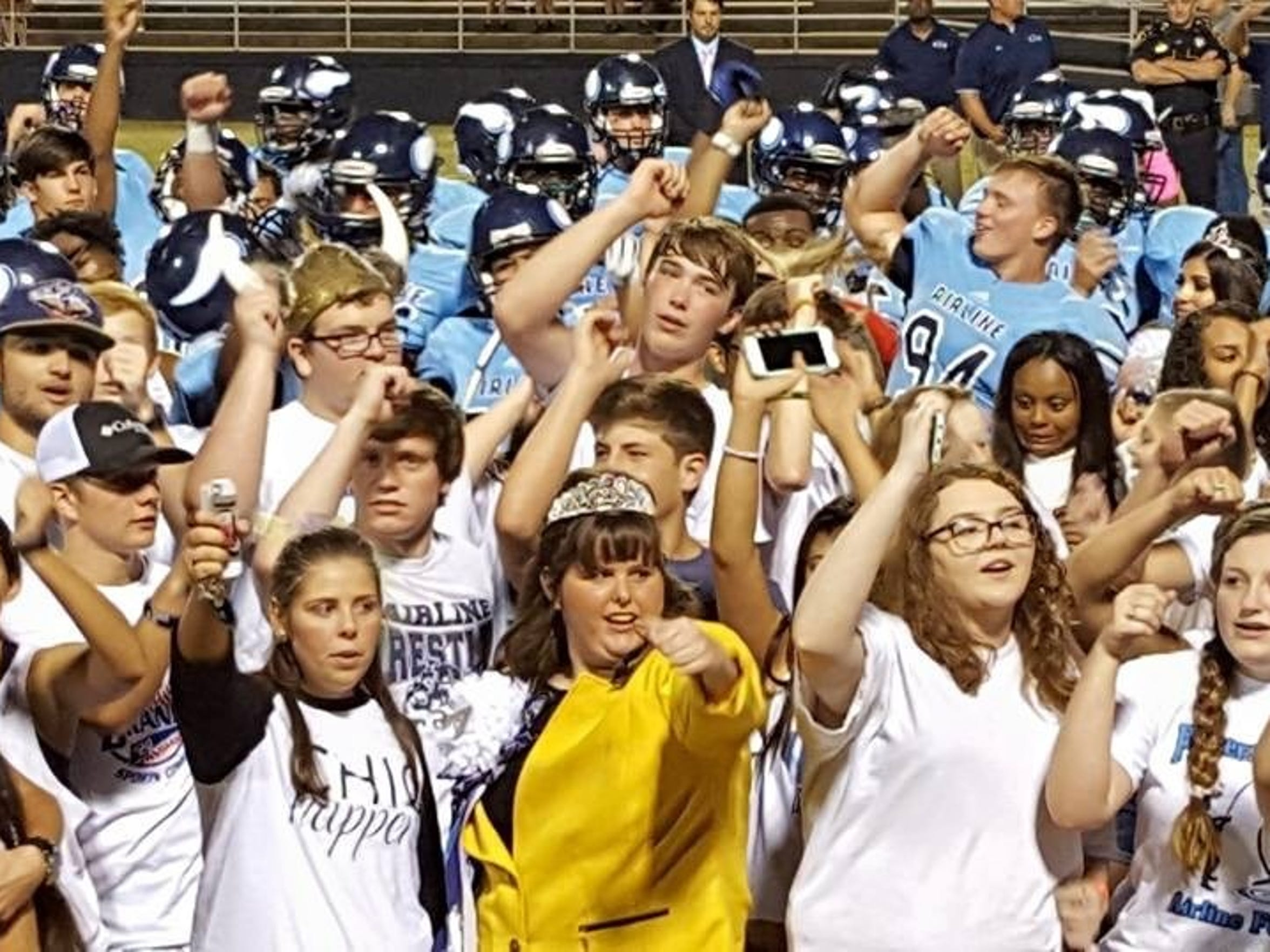 The Airline student cheering section is one of the