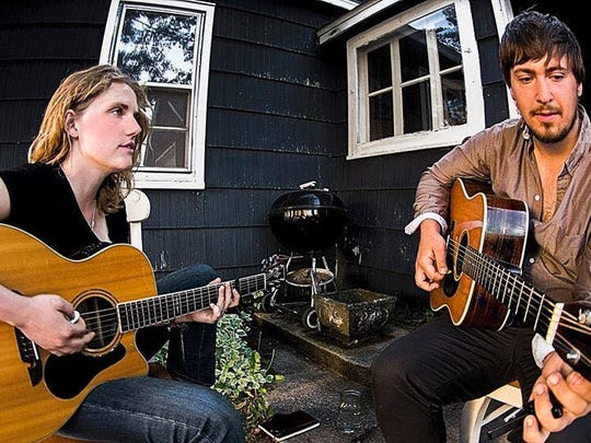 "Adam Greuel and Sarah Vos are performing Friday at Guu's on Main in downtown Stevens Point under the newly formed title ""Rucksack Revolution."""