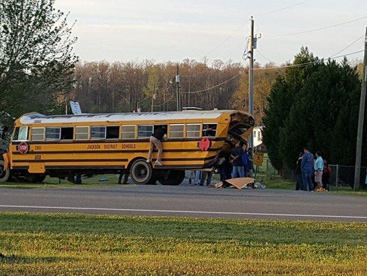 Grand Ridge bus crash by Nikki Patrick