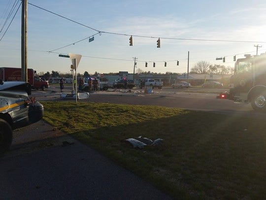 Police are investigating a crash that closed U.S. 13 southbound.