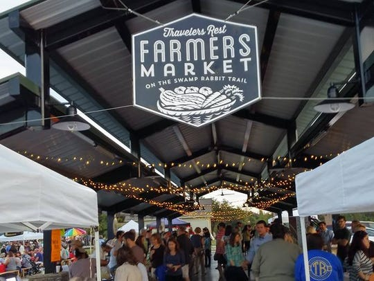 The Travelers Rest Farmers Market is but one of the