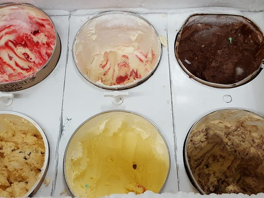 The ice cream options at Severt's Fine Foods.