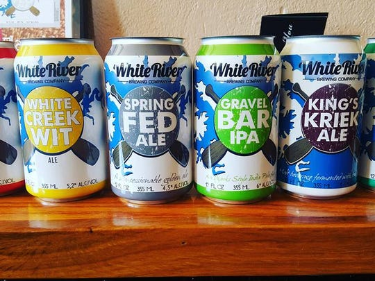 New releases: In April, White River Brewing Company released new labels and a line of new beers which have done very well. They've had their highest sales the past two months.