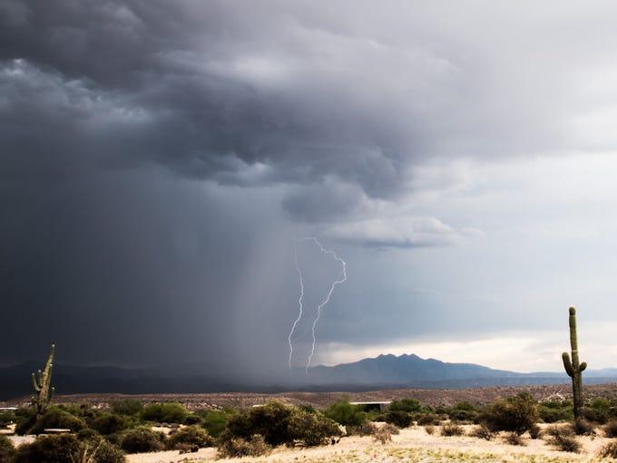 """Reader Steven Klein writes: """"Caught some lightning"""