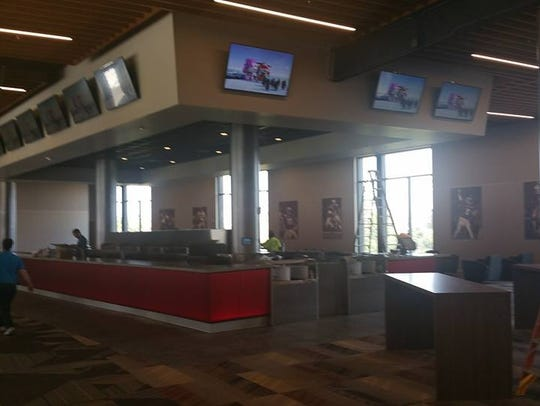 A bar area in the new Champions Club at Doak Campbell