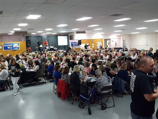 """More than 300 people attended the """"Designer Purse Bingo"""" fundraiser for the United Way of Crawford County in 2016. This year, the event will take place on Saturday, Sept. 14."""