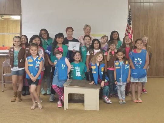 Girl Scout troop 12001 donate to CPAWS. Proceeds were contributed from the 2016 cookie sale.