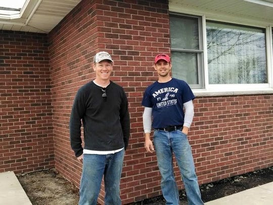 Curt Terpstra, right, of Pella, and his brother, Chip.