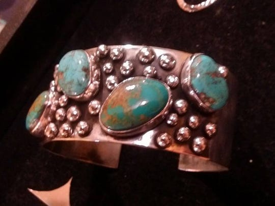 A bracelet made by jewelry designer Rebecca McWilliams.